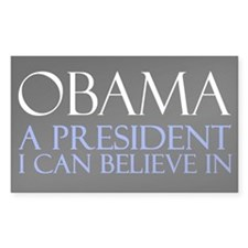 Believe in Obama Decal