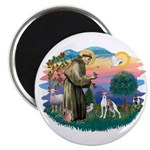 St. Francis #2 / Italian Greyhound Magnet