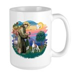 St. Francis #2 / Italian Greyhound Large Mug