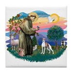 St. Francis #2 / Italian Greyhound Tile Coaster