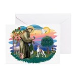 St. Francis #2 / Italian Greyhound Greeting Cards