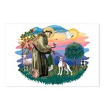 St. Francis #2 / Italian Greyhound Postcards (Pack