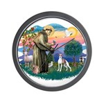 St. Francis #2 / Italian Greyhound Wall Clock