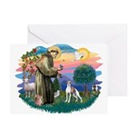 St. Francis #2 / Italian Greyhound Greeting Card
