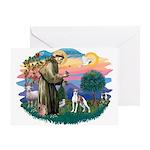 St. Francis #2 / Italian Greyhound Greeting Card
