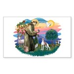 St. Francis #2 / Italian Greyhound Sticker (Rectan