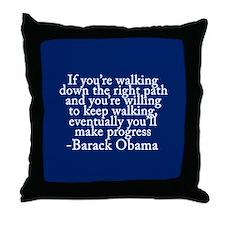 Progressive Obama Throw Pillow