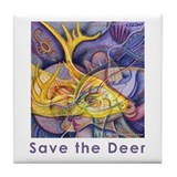 Save the Deer Tile Coaster