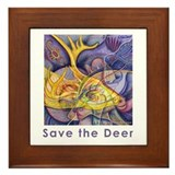 Save the Deer Framed Tile