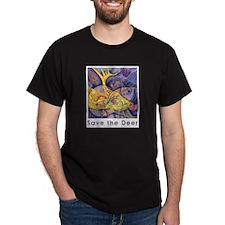 Save the Deer Black T-Shirt