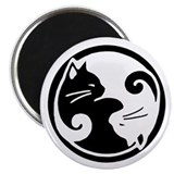 Ying Yang Cats Magnet