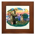 St. Fran. #2 / Great Dane (nat) Framed Tile