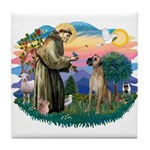 St. Fran. #2 / Great Dane (nat) Tile Coaster