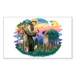 St. Fran. #2 / Great Dane (nat) Sticker (Rectangle