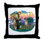 St. Fran. #2 / Great Dane (nat) Throw Pillow