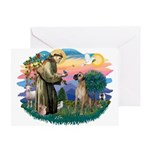 St. Fran. #2 / Great Dane (nat) Greeting Card
