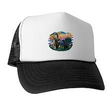 St Fran./ G Schnauzer (blk) Trucker Hat