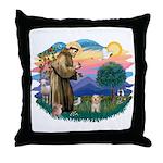 St.Fran. #2/ Havanese pup Throw Pillow