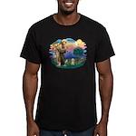 St.Fran. #2/ Havanese pup Men's Fitted T-Shirt (da