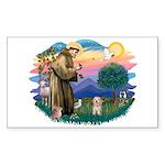 St.Fran. #2/ Havanese pup Sticker (Rectangle 10 pk