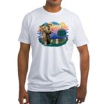 St.Fran. #2/ Havanese pup Fitted T-Shirt