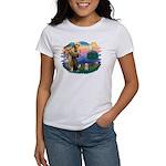 St.Fran. #2/ Havanese pup Women's T-Shirt