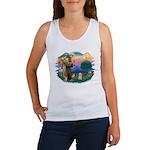 St.Fran. #2/ Havanese pup Women's Tank Top