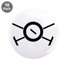 "Curling Pirate 3.5"" Button (10 pack)"