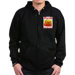 Complete with Button Zip Hoodie (dark)
