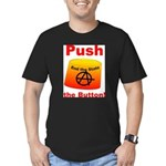 Complete with Button Men's Fitted T-Shirt (dark)