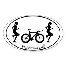 Unique Women running Decal