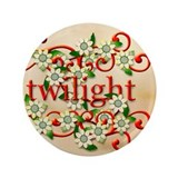 "Twilight New Moon Flowers 3.5"" Button"