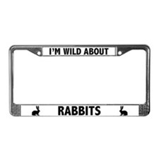 Wild About Rabbits License Plate Frame