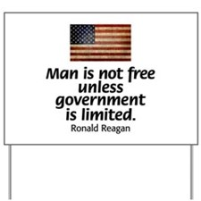 Man is not free unless... Yard Sign