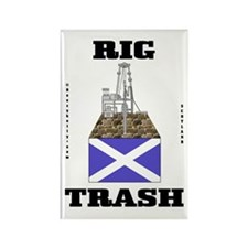 Scottish Rig Trash Rectangle Magnet (100 pack)