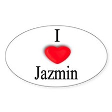 Jazmin Oval Decal