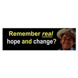 Remember Real Hope and Change? Bumper Sticker