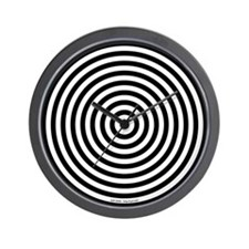 Animated Wall Clock 'Circles' (Black/White)