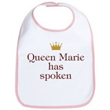 Personalized Queen Has Spoken Bib