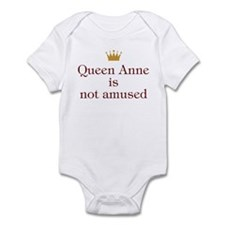 Personalized Queen Not Amused Infant Bodysuit