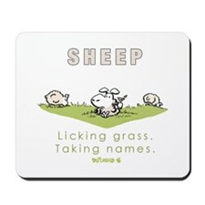 Licking Grass, Taking Names Mousepad