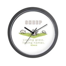 Licking Grass, Taking Names Wall Clock