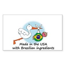 Stork Baby Brazil USA Decal