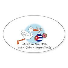 Stork Baby Cuba USA Decal