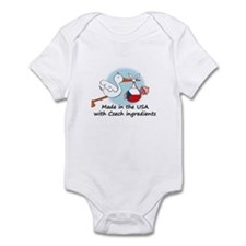 Stork Baby Czech Rep. USA Infant Bodysuit