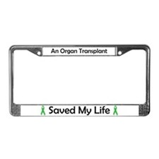 Saving Transplant License Plate Frame