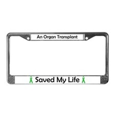 Saving Transplant License Plate Frame