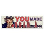 You Made O B A M A Sticker (Bumper 10 pk)