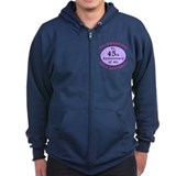 Funny 75th Birthday Gag Zip Hoody