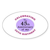 Funny 75th Birthday Gag Decal